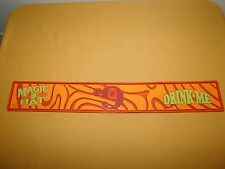 """Vintage Old Liquor Bar 23"""" Long Magic Hat Brewing Co #9 Rubber Drip Tray"""