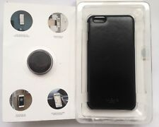 KNOMO Leder Case+Mag Mount/Cover+Magnethalterung f. iPhone 6 Plus/SCHWARZ/NEU!!!
