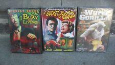 """Dvd -"""" 3-Film Bargain Bundle """" Horror/Thriller . White Gorilla, Bucket Of Blood"""