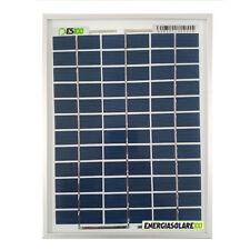Pannello Solare Fotovoltaico 5W 12V Carica Batteria Auto Camper Nautica Allarme