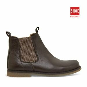 Clarks CAMPBELL Brown Boys Ankle Boot Fashion Leather Boots