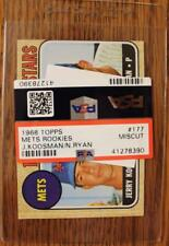 1968 Topps #177 Nolan Ryan Rookie Baseball Card HOF Graded PSA Miscut