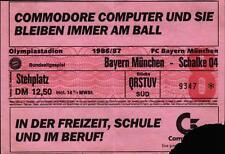 Ticket BL 86/87 FC Bayern München - FC Schalke 04, Stehplatz