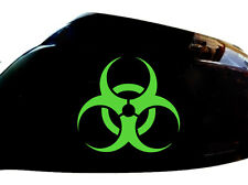 Biohazard Car Sticker Wing Mirror Styling Decals (Set of 2), Neon Green