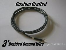 New Custom 3ft. Dual Spade Audiophile Grade Braided Turntable Ground Wire