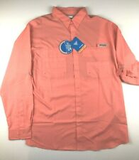 Columbia Pfg Mens 2Xl Tamiami Coral Red Roll Up L/S Vented Fishing Shirt Nwt