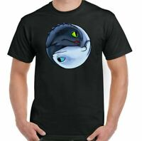 How to Train Your Dragon T-Shirt Toothless Yin and Yang Mens Funny Inspired Top