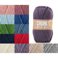 Sirdar Hayfield Chunky With Wool 100g Ball Knitting Crochet Knit Craft Yarn