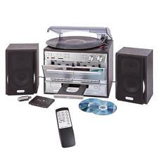 Chaine-hifi tourne disque cassette cd radio avec transfert usb