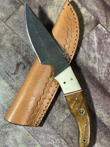 MH KNIVES CUSTOM HANDMADE DAMASCUS STEEL FULL TANG HUNTING/SKINNER KNIFE D-33