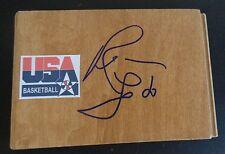 REBECCA LOBO Signed USA WOMENS BASKETBALL Floor Tile WNBA Free Shipping UCONN