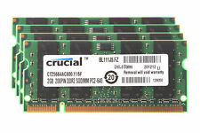 New Genuine 2GB Crucial Memory Ram Laptop DDR2 PC2 6400S 800 MHz SODIMM 200 PIN
