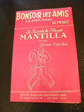 Partition Bonsoir the amis M Lynn Mantilla Primo Corchia 1959