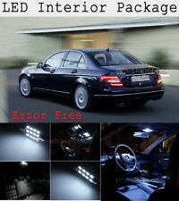 9X Xenon White SMD LED Interior Package + Tag Light For Benz W204 C250 C300 KP