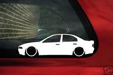 2x Lowered car outline stickers - for Mitsubishi Galant VR4 ,V6 low jdm sedan