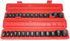 TEKTON 30pc 1/2in Drive Shallow Impact Socket Set Inch/ Metric