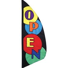 Open (Message) Feather Banner Open Circles Style 8.5 ft Flag PR 26214
