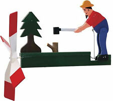 Man Chopping Wood Wooden Hand Painted Whirligig....29  -Chopper