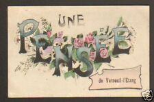 VERNEUIL-L'ETANG (77) une PENSEE de ... en 1908