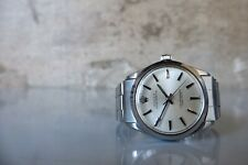 Vintage 1966 ROLEX Oyster Perpetual 1002 SS 34mm Automatic Silver Dial Riveted