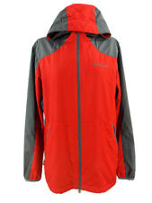 Columbia Jacket Windbreaker With Hood Packable Red & Gray Women's Size M