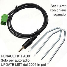 KIT Cavo Aux MP3 iPod RENAULT Update List KANGOO LAGUNA CLIO TWINGO SCENIC 1,4MT
