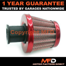 CAR MOTORCYCLE QUAD BIKE 16MM RED CONE CRANK CASE ENGINE BREATHER FILTER