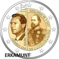 2 euro Luxemburg 2017 200. Geburtstag Großherzogs Wilhelm III  VVK