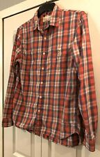 Men's Denim and Supply Ralph Lauren Button Front Shirt Size L Red Blue Plaid