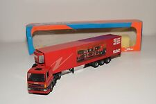 TEKNO DAF 85 CF 85CF TRUCK WITH TRAILER PROMOTIONAL RED NEAR MINT BOXED