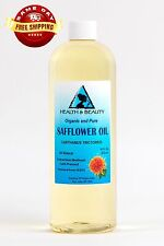 SAFFLOWER OIL ORGANIC CARRIER HIGH OLEIC COLD PRESSED PREMIUM 100% PURE 16 OZ