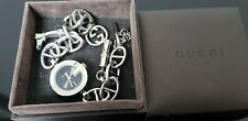 Gucci 107 Ladies Stainless Steel Charm Bracelet Watch in Gucci Box.