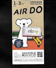 AIR DO JAPAN TIMETABLE 1/2017-3/25/2017 B737-500/700-767-300 AIR DO K BEAR