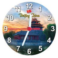 Beijing Templo Beijing China Imán Reloj Redondo, 11CM, Epoxy Viajes