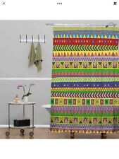 """NEW DENY Bianca Green Forever Young Shower Curtain, 69"""" x 72"""""""