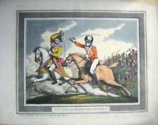 Gravures Napoléoniennes cavalerie Sabre Perceuses Rowlandson Bride bras protéger 1799