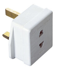 Shaver Adaptor (2pin To 3pin) 1amp Fuse for Toothbrush & Bathroom Shaving