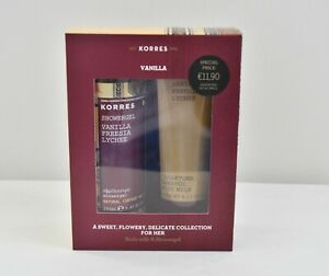 Korres Vanilla A Sweet,Flowery, Delicate Collection For Her Body Milk &Showergel