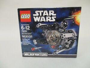LEGO STAR WARS MICROFIGHTERS TIE FIGHTER INTERCEPTOR RETIRED MISB #75031 NEW
