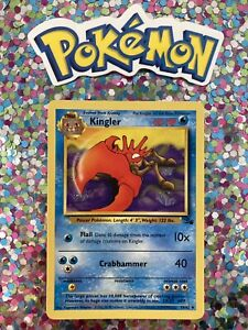 ⭐️ Kingler Fossil Set crab Pokemon Card Wizards WotC Game Freak Nintendo 1999 🎏