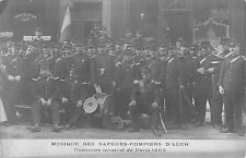 CPA 32 MUSIQUE DES SAPEURS POMPIERS D'AUCH CONCOURS MUSICAL 1908 (cpa rare