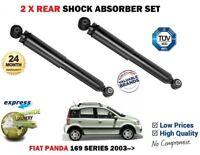 FOR FIAT PANDA 169 1.1.2 1.4 1.3D 2003-> 2 X REAR SHOCK ABSORBER SHOCKER SET