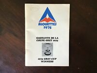 1975 MONTREAL ALOUETTES MEDIA GUIDE Yearbook 1974 GREY CUP CHAMPS! Program CFL