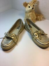 Womens Sperry Top Sider  Gold Color Leather  Boat shoe  Size 5.5