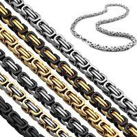 Halskette Armband Edelstahlkette Panzerkette Massiv Königskette Herrenschmuck