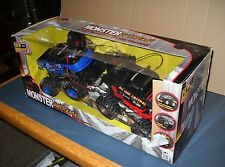 NEW BRIGHT RC MONSTER EXTREME FULL FUNCTION RADIO CONTROL 2 VEHICLES 80 ft RANGE