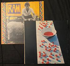 Paul Mccartney Vinyl Lot Of 2 Mccartney/ram Near Mint Original Apple Press