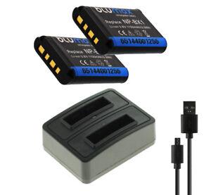 2 x Akku + Dual-Ladegerät für Sony Cyber-shot DSC-RX100 III, V, VI, VII - NP-BX1