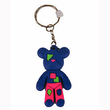 Patches Teddy Bear PVC Keyring Chain Pendant Collection Tatty Soft Cute Fun Clip