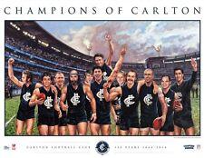CARLTON CHAMPIONS 150 YEAR LIMITED OFFICIAL AFL PRINT JUDD NICHOLLS KERNAHAN